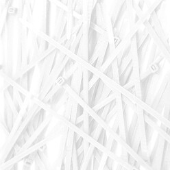Cable Ties, Pack of 100 - White