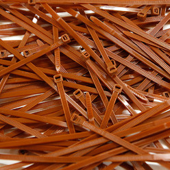 Cable Ties, Pack of 100 - Brown