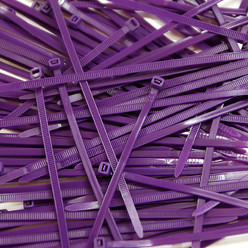 Cable Ties, Pack of 100 - Purple