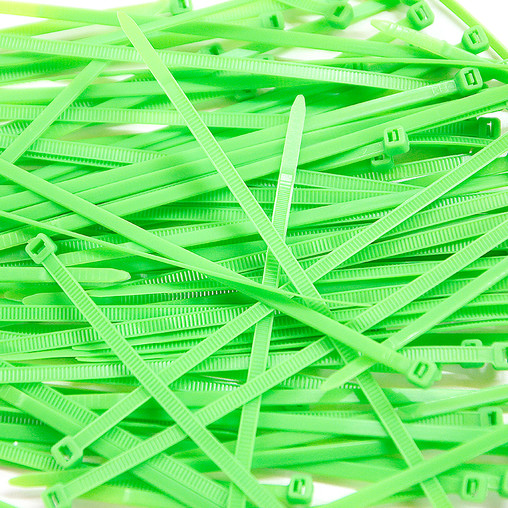Cable Ties, Pack of 100 - Fluo Green