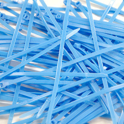 Cable Ties, Pack of 100 - Baby Blue