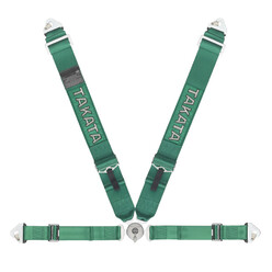 Takata Race 4 - 4 Point FIA Harness - Green