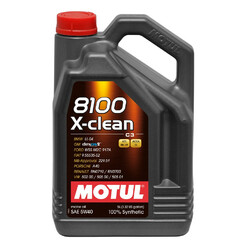 Motul 5W40 8100 X-Clean Engine Oil (BMW, Mercedes, Porsche, Renault Sport) 5L