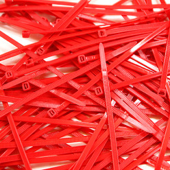 Cable Ties, Pack of 100 - Red
