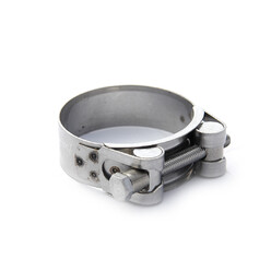 Stainless Steel T Bolt Hose Clamp. 52-55 mm