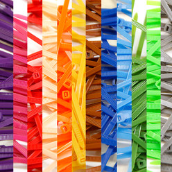 """CableTieBomb"" : Pack of 1200 Cable Ties - All Colours"
