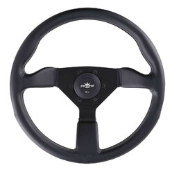 Personal Grinta Steering Wheel - 350 mm -  Black Leather, Black Spokes