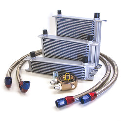 Universal Oil Cooler Kit - Radiator, Hoses and Sandwich Plate