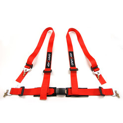 "DriftShop 4 Point Harness 2"" - Red - Road Approved"