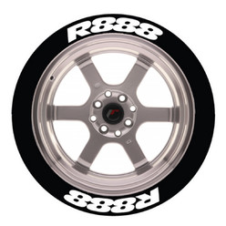 "R888 Tire Stickers, Temporary ""Peel & Stick"""