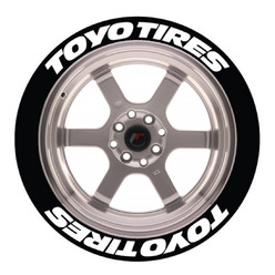 Toyo Tires Tire Stickers, Permanent - Raised Rubber