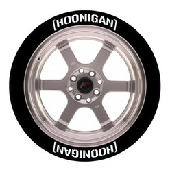 [Hoonigan] Tire Stickers, Permanent - Raised Rubber