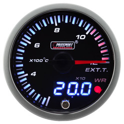 "ProSport JDM ""Dual Display"" Exhaust Temperature Gauge (60 mm, EGT 1200°C)"