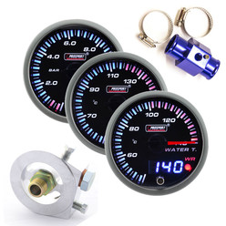 "Prosport JDM ""Dual Display"" Triple Gauge Package - Water/Oil"