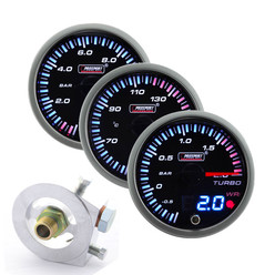 "Prosport JDM ""Dual Display"" Triple Gauge Package - Turbo/Oil"