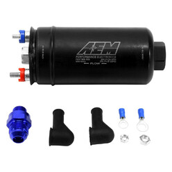 AEM Universal 400 Lph Fuel Pump - Dash Fittings