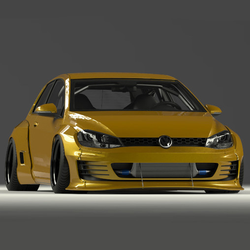 pandem bodykit for volkswagen golf 7 pandem distributor. Black Bedroom Furniture Sets. Home Design Ideas