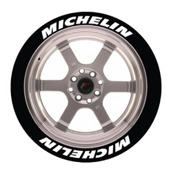 Michelin Tire Stickers, Permanent - Raised Rubber