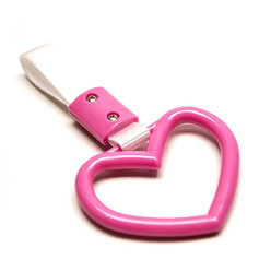 "Heart ""Tsurikawa"" Handle - Pink"