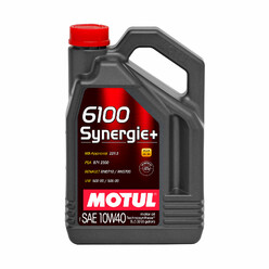 Motul 6100 Synergie+ 10W40 Engine Oil (5L) (Mercedes, Renault, VW, PSA)