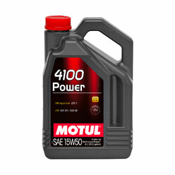 Motul 4100 Power 15W50 Engine Oil (5L) (Mercedes, Volkswagen)