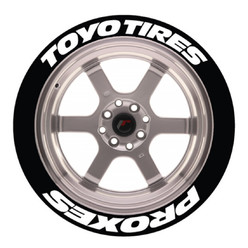 Toyo Tires Proxes Tire Stickers, Permanent - Raised Rubber