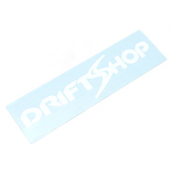 DriftShop Classic White Sticker