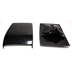 Carbon Roof Vent with 2 Adjustable Air Vents