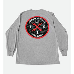 Hoonigan Bolt Hits T-Shirt - Grey (Long Sleeves)