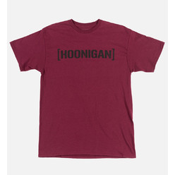 Hoonigan Bracket Logo T-Shirt - Burgundy