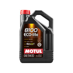 Motul 8100 Eco-Lite 5W20 Engine Oil (Ford, Chevrolet, Opel, GM...) 5L