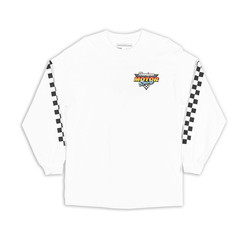 Hoonigan HNGN Motorsport T-Shirt - White (Long Sleeves)