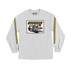 Hoonigan Coming In Hot T-Shirt - Grey (Long Sleeves)