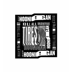 Hoonigan Kill All Tires Warp Sticker