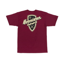 Hoonigan Kat Shield T-Shirt - Burgundy