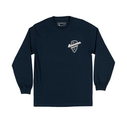 Hoonigan Kat Shield T-Shirt - Navy (Long Sleeves)
