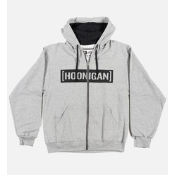 Hoonigan Censor Bar Zipped Hoodie - Grey