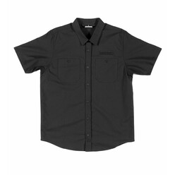 Hoonigan Donut Garage Woven - Black (Short Sleeves)