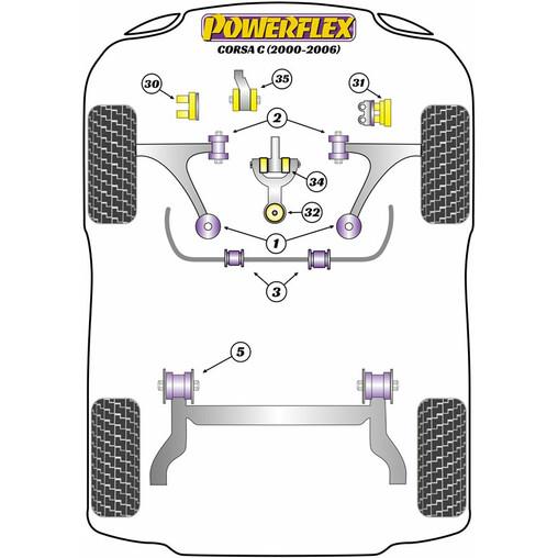 Powerflex PFF80-1030BLK Bushes