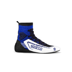 Sparco X-Light+ Racing Shoes, White & Blue (FIA)
