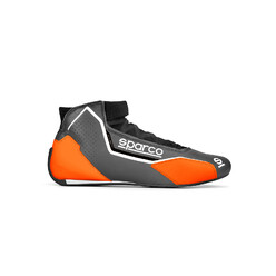 Sparco X-Light Racing Shoes, Grey & Orange (FIA)