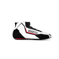 Sparco X-Light Racing Shoes, White & Black (FIA)