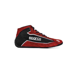 Sparco Slalom+ F Racing Shoes, Red (FIA)