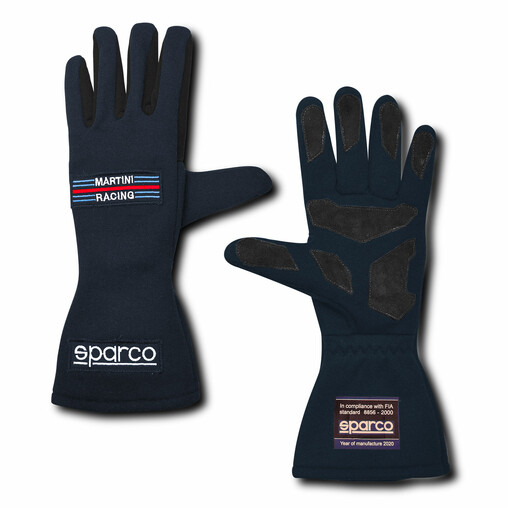"Sparco Land Classic ""Martini Racing"" Gloves, Blue (FIA)"