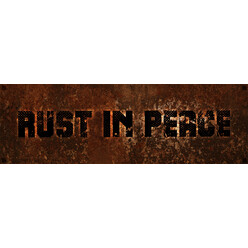 "DriftShop ""Rust In Peace"" Sticker"