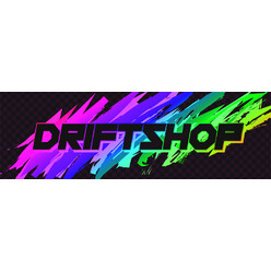 "DriftShop 80's ""Rainbow"" Sticker"