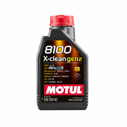 Motul 8100 X-Clean Gen2 Engine Oil 5W40 (BMW, Mercedes, Porsche, VW, GM...) 1L