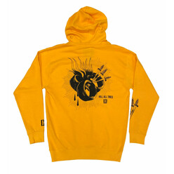 Hoonigan Tire Heart Slayer Hoodie - Yellow