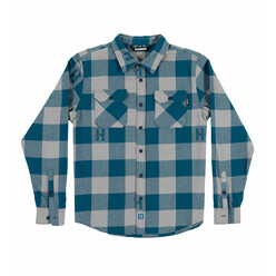 Hoonigan H-Icon Flannel - Navy & Grey