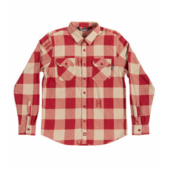 Hoonigan H-Icon Flannel - Burgundy & Tan
